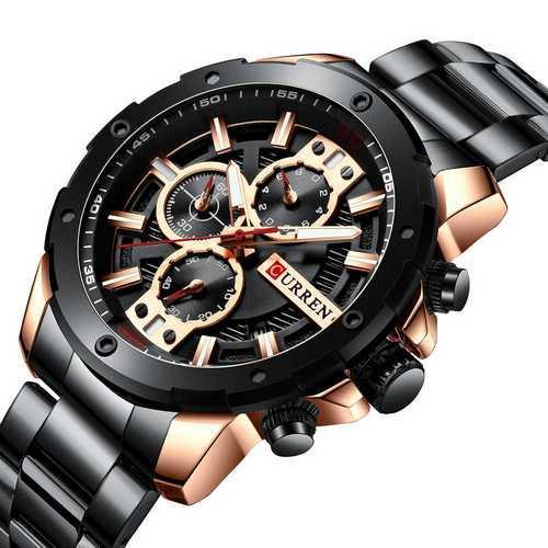 Мужские наручные часы Curren 8336 Black-Cuprum