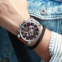 Мужские наручные часы Curren 8346 Brown-Silver-Black, фото 2