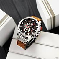 Мужские наручные часы Curren 8346 Brown-Silver-Black, фото 4