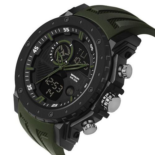 Мужские наручные часы Sanda 6012 Green-Black
