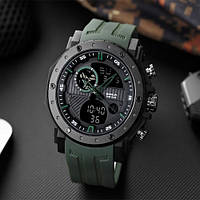 Мужские наручные часы Sanda 6012 Green-Black, фото 2