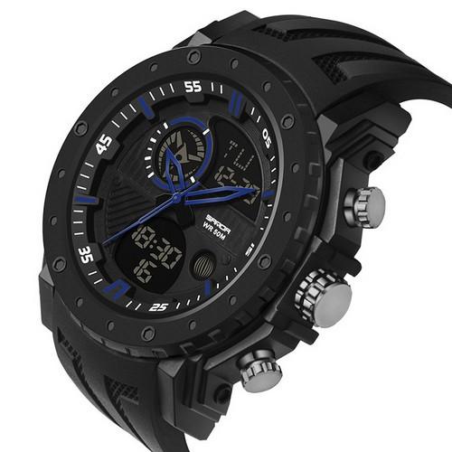Мужские наручные часы Sanda 6012 Black-Blue