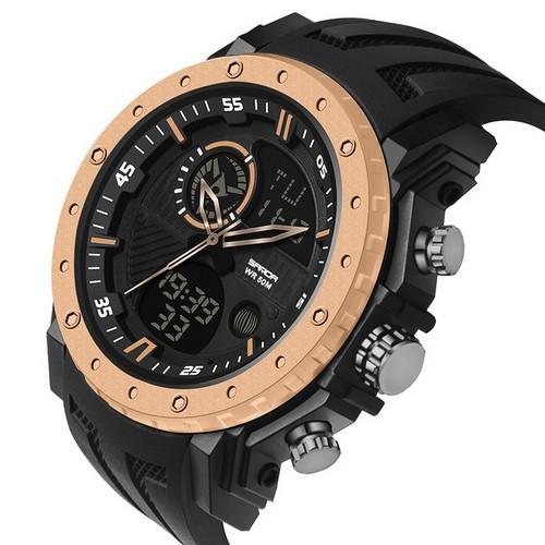 Мужские наручные часы Sanda 6012 Black-Cuprum