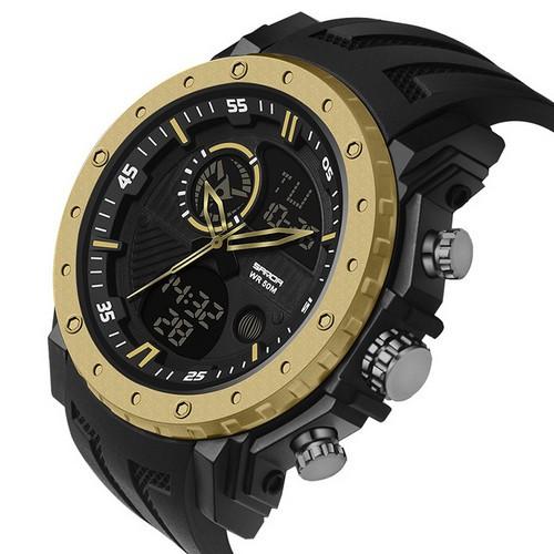 Мужские наручные часы Sanda 6012 Black-Gold