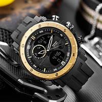 Мужские наручные часы Sanda 6012 Black-Gold, фото 2