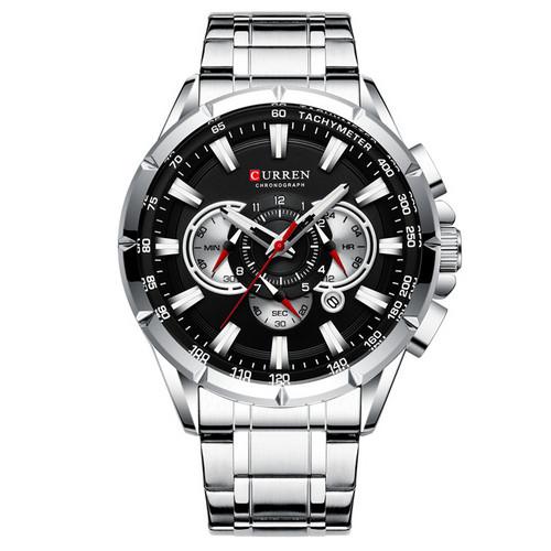 Мужские наручные часы Curren 8363 Silver-Blak