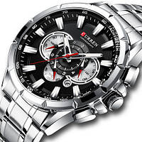 Мужские наручные часы Curren 8363 Silver-Blak, фото 2