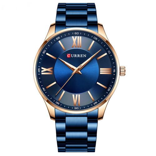 Мужские наручные часы Curren 8383 Blue-Gold