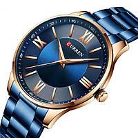 Мужские наручные часы Curren 8383 Blue-Gold, фото 2