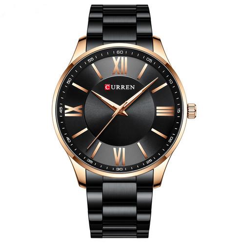 Мужские наручные часы Curren 8383 Black-Gold