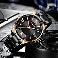 Мужские наручные часы Curren 8383 Black-Gold, фото 2