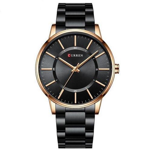 Мужские наручные часы Curren 8385 Black-Gold