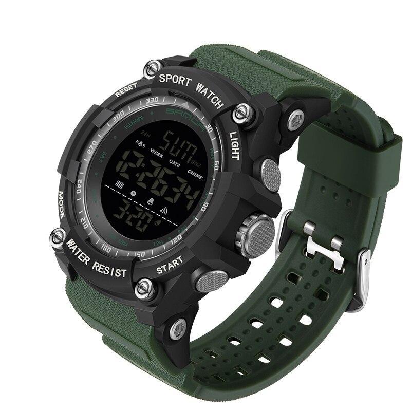 Мужские наручные часы Sanda 2016 Green-Black