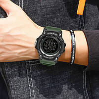 Мужские наручные часы Sanda 2016 Green-Black, фото 2