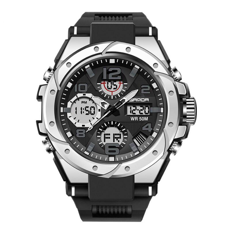 Мужские наручные часы Sanda 6008 Black-Silver