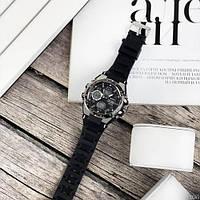 Мужские наручные часы Sanda 6008 Black-Silver, фото 4