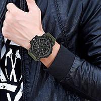 Мужские наручные часы Sanda 6021 Green-Black, фото 2