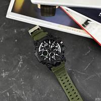 Мужские наручные часы Sanda 6021 Green-Black, фото 3