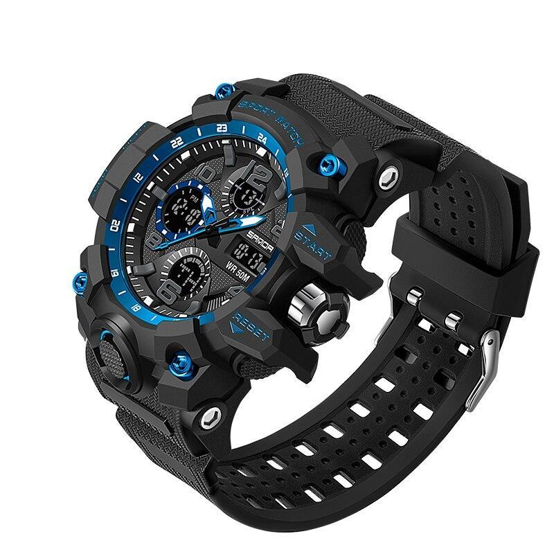 Мужские наручные часы Sanda 6021 Black-Blue