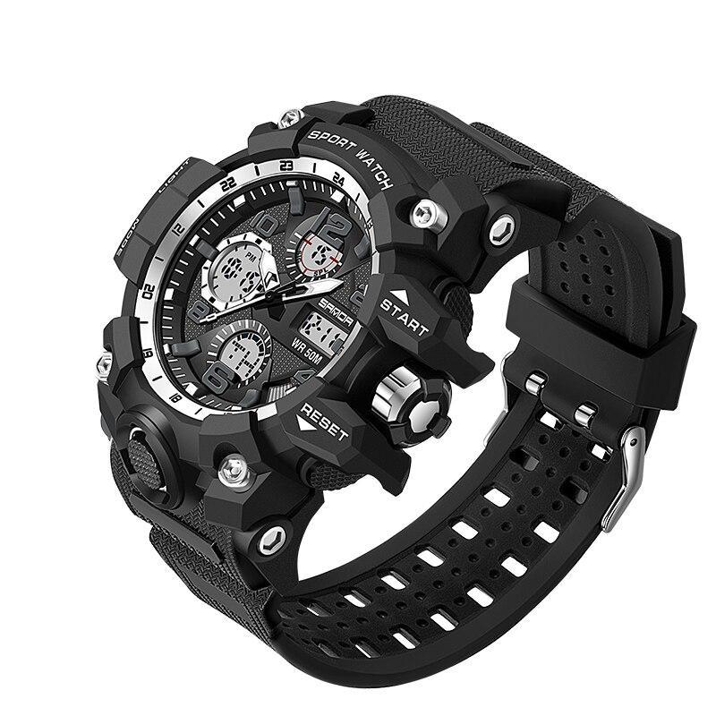 Мужские наручные часы Sanda 6021 Black-Silver