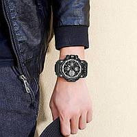 Мужские наручные часы Sanda 6021 Black-Silver, фото 2