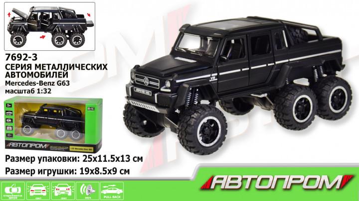 """Машина метал 7682 """"АВТОПРОМ""""1:24 Ford, батар, світло, звук, двері об., 3 кольору, в кор.28, 5*12*14 див."""