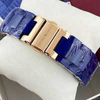 Мужские наручные часы Emporio Armani Silicone 068 Gold-Blue, фото 5