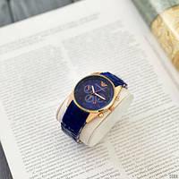 Мужские наручные часы Emporio Armani Silicone 068 Gold-Blue, фото 10