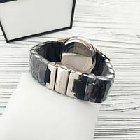 Мужские наручные часы Emporio Armani Silicone 068 Silver-Black, фото 3