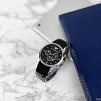 Мужские наручные часы Emporio Armani Silicone 068 Silver-Black, фото 4
