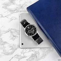 Мужские наручные часы Emporio Armani Silicone 068 Silver-Black, фото 5