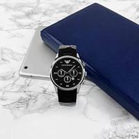 Мужские наручные часы Emporio Armani Silicone 068 Silver-Black, фото 6