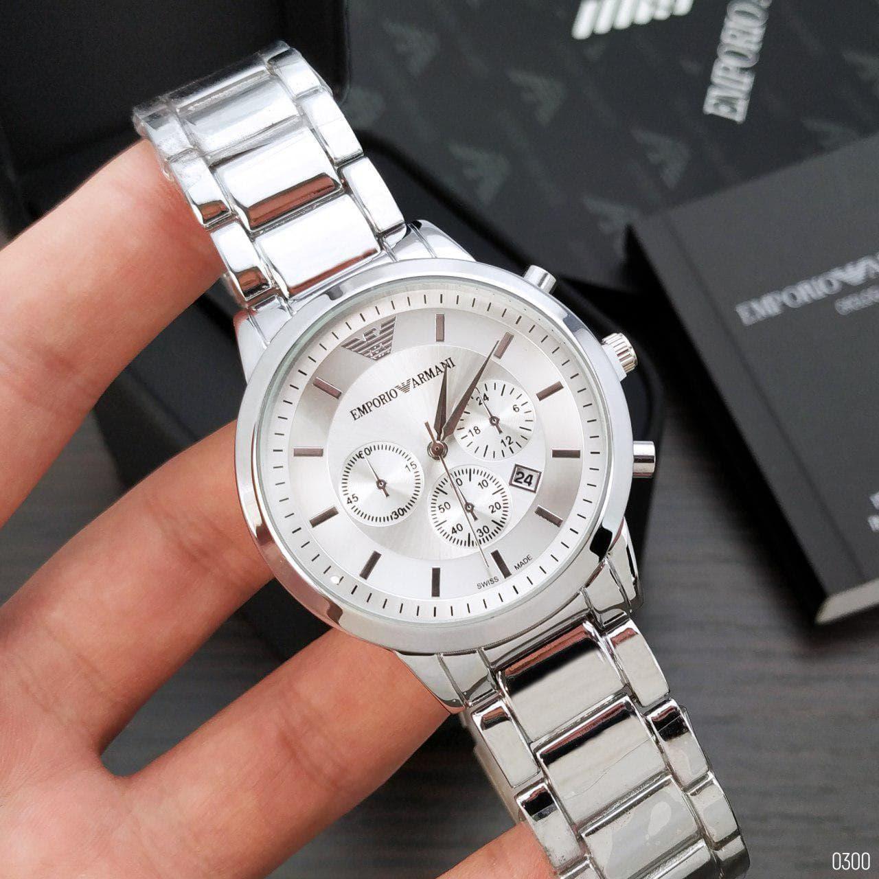 Мужские наручные часы Emporio Armani  QQ Silver