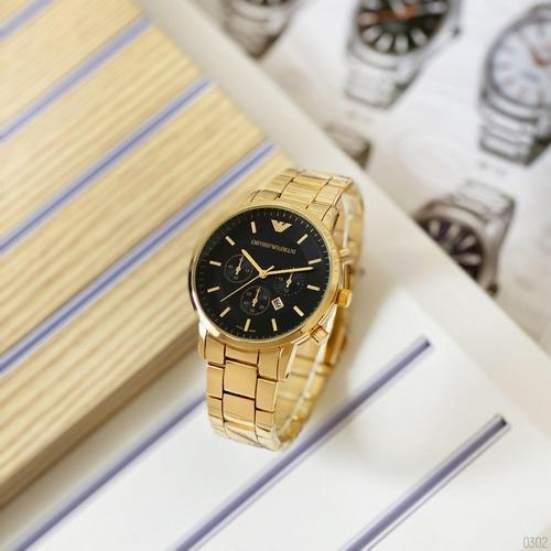 Мужские наручные часы Emporio Armani QQ Gold-Black