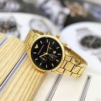 Мужские наручные часы Emporio Armani QQ Gold-Black, фото 3