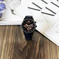 Мужские наручные часы Emporio Armani Silicone 068 Black-Cuprum, фото 4
