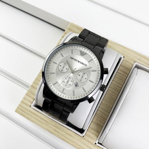 Мужские наручные часы Emporio Armani QQ Black-White