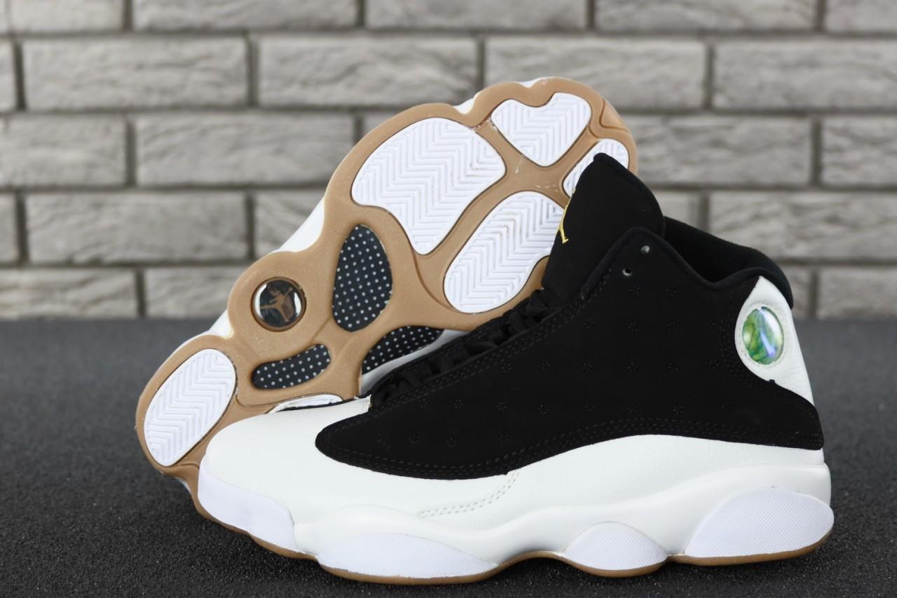 Мужские баскетбольные кроссовки Nike nike Air Jordan 13 Retro Black/White Cat. ТОП Реплика ААА класса.