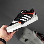 Чоловічі кросівки Adidas DROP Step (чорно-білі) 10337, фото 6
