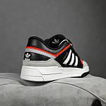 Чоловічі кросівки Adidas DROP Step (чорно-білі) 10337, фото 3