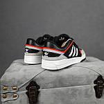 Чоловічі кросівки Adidas DROP Step (чорно-білі) 10337, фото 9