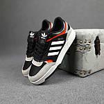 Чоловічі кросівки Adidas DROP Step (чорно-білі) 10337, фото 8