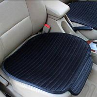 Універсальний захисний килимок для сидіння автомобіля, Килимок на сидіння авто на прогумованій основі Чорний