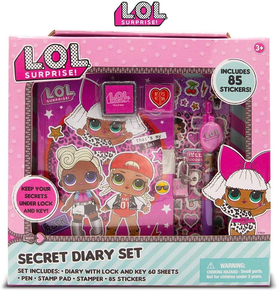 Блокнот ЛОЛ Сюрприз и 85 наклеек LOL Surprise Secret Diary Set for Girls