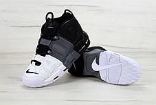 Кроссовки мужские Nike Air More Uptempo Black/White . ТОП Реплика ААА класса., фото 3