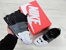 Кроссовки мужские Nike Air More Uptempo Black/White . ТОП Реплика ААА класса., фото 2