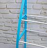 Стелаж над унітазом етажерка підлогова органайзер для туалету WM-64 Блакитна, фото 4