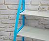Стелаж над унітазом етажерка підлогова органайзер для туалету WM-64 Блакитна, фото 6