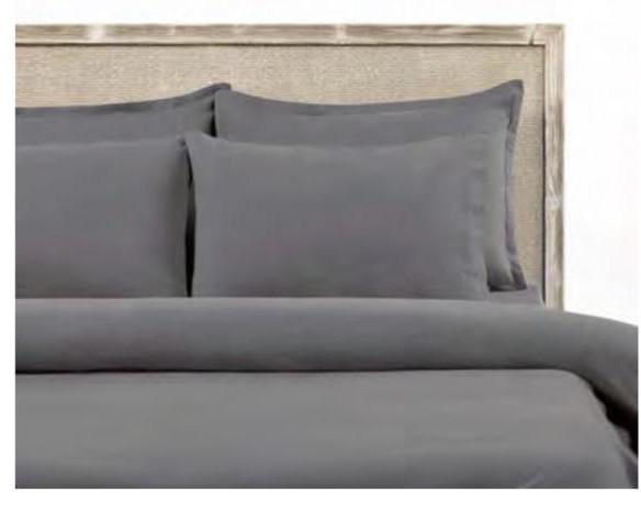 Постельный комплект серый евро 200*220 ECO LWOOD Hermanus Home