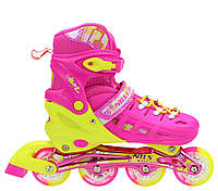 Роликовые коньки для девочки Nils Extreme NA1005A Size 39-42 Pink ролики детские розового цвета